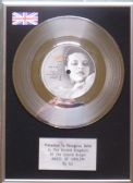 "U2 - 7"" Platinum Disc - Angel of Harem"